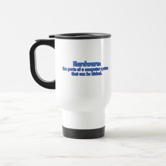 Hardware Can Be Kicked Travel Mug