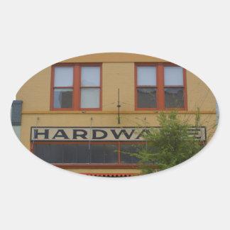 Hardware Oval Sticker