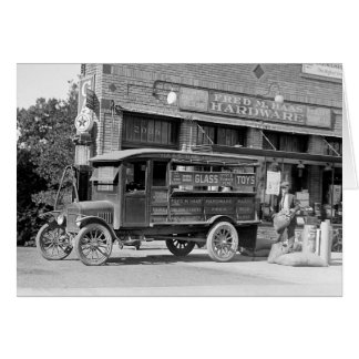 Hardware Store Delivery Truck, 1924 Card