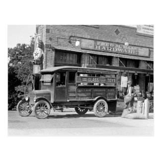 Hardware Store Delivery Truck, 1924. Vintage Photo Postcard