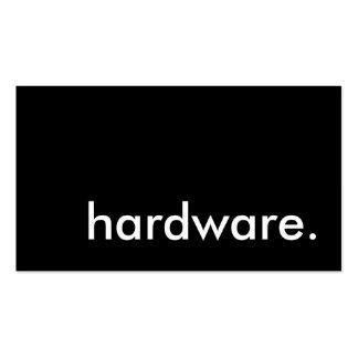 hardware tarjetas de visita