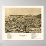 Hardwick, mapa panorámico del VT - 1892 Posters