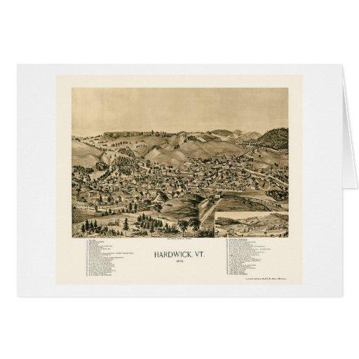 Hardwick, mapa panorámico del VT - 1892 Felicitación