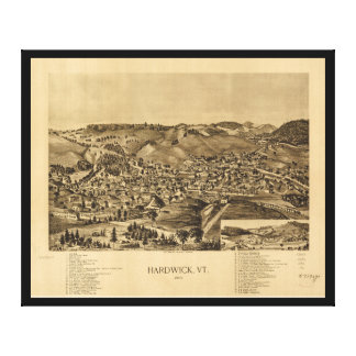Hardwick Vermont in 1892 Canvas Print