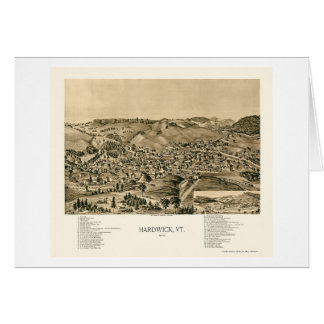 Hardwick, VT Panoramic Map - 1892 Greeting Cards