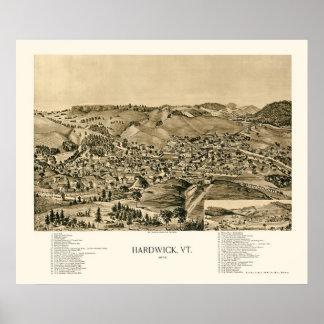 Hardwick, VT Panoramic Map - 1892 Poster