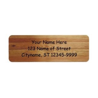 Hardwood Custom Return Address Label