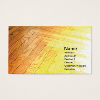 hardwood floor business card