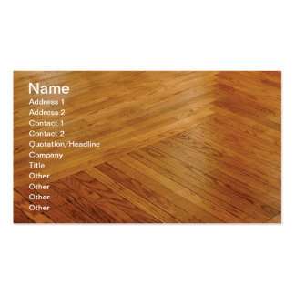 hardwood floor Double-Sided standard business cards (Pack of 100)