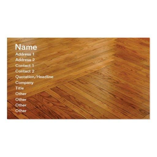 hardwood floor business cards