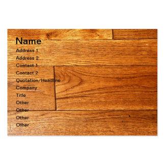 Hardwood floor large business card