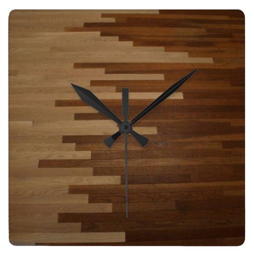 Hardwood Floor Wall Clock