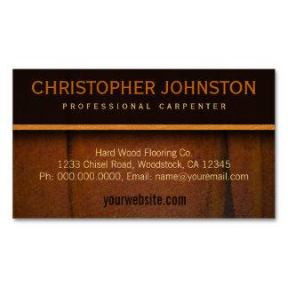 Hardwood Flooring Faux Wooden Business Card Magnet