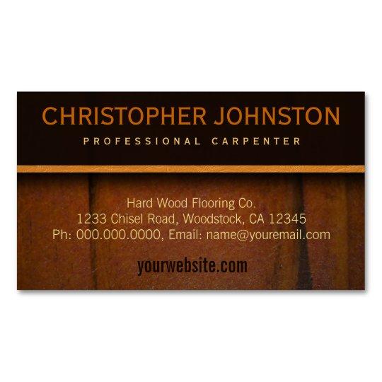 Hardwood Flooring Faux Wooden Business Card Magnet Zazzle Com