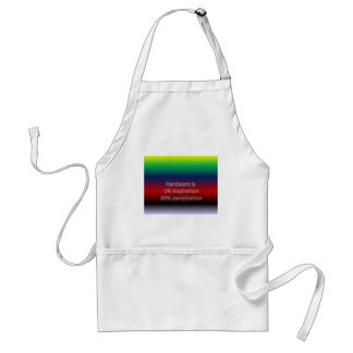 Hardwork is  1% inspiration 99% perspiration adult apron