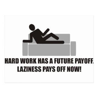 Hardwork tiene rentabilidades futuras, holgazanerí postales