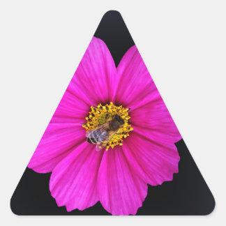 hardworking bee triangle sticker