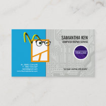 Hardworking Mouse PC Repair Services Business Card