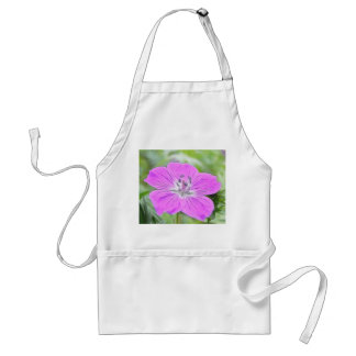 Hardy Geranium In Bloom Adult Apron
