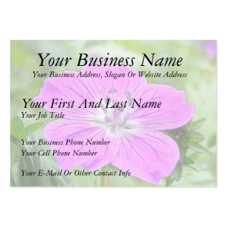 Hardy Geranium In Bloom Large Business Cards (Pack Of 100)