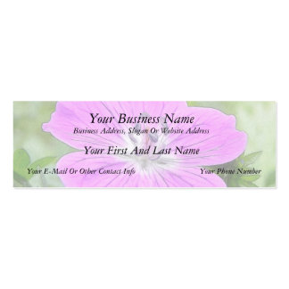 Hardy Geranium In Bloom Double-Sided Mini Business Cards (Pack Of 20)