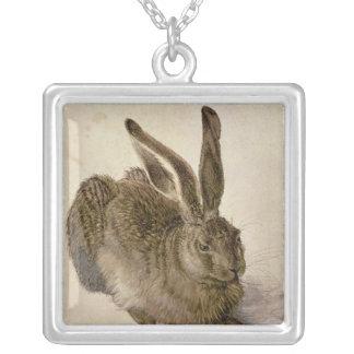 Hare, 1502 square pendant necklace