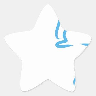 Hare #2 star sticker