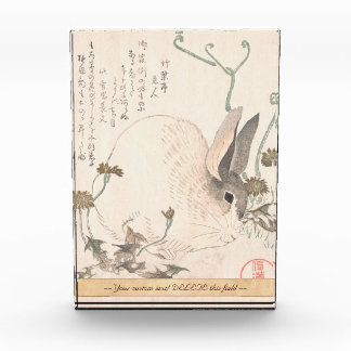 Hare and Dandelion, Kubo Shunman, Japanese art Acrylic Award