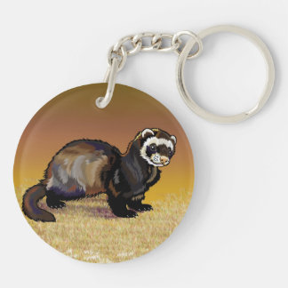 hare and ferret Double-Sided round acrylic keychain