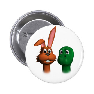 Hare and Tortoise01 Pinback Buttons