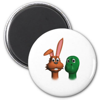 Hare and Tortoise01 Magnet