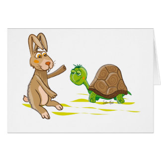 Hare and Tortoise Card