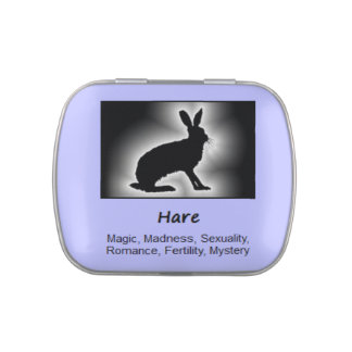 Hare Animal Spirit Meaning Collectible Jelly Belly Candy Tins