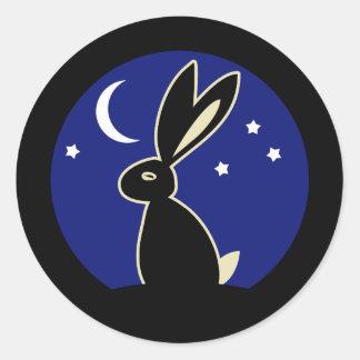 Hare at Twilight Classic Round Sticker