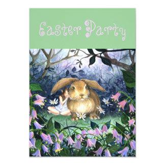 """Hare Bells"" Easter Invitation 5"" X 7"" Invitation Card"
