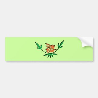 Hare branch sheds rabbit twig bumper sticker