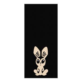 Hare_by_Rones_Vector_Clipart cartoon bunny rabbit Custom Rack Card