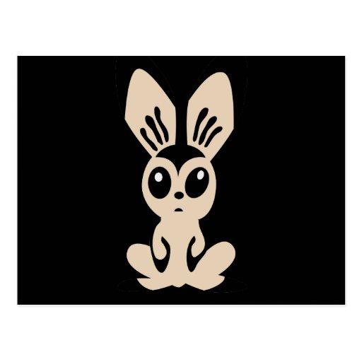 Hare_by_Rones_Vector_Clipart cartoon bunny rabbit Postcard