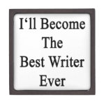 Haré el mejor escritor nunca caja de recuerdo de calidad