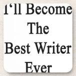 Haré el mejor escritor nunca posavasos de bebidas