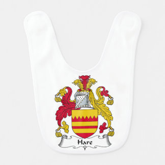 Hare Family Crest Baby Bibs