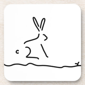 hare field hare wildly beverage coaster