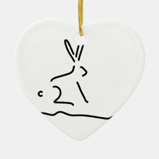 hare field hare wildly ceramic ornament
