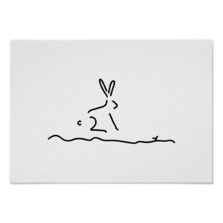 hare field hare wildly poster