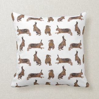 Hare Frenzy Pillow (Choose colour)