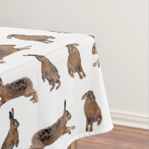 Hare Frenzy Tablecloth (choose colour)