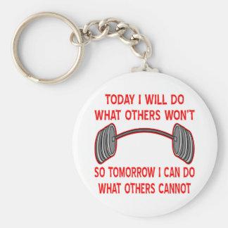 Haré hoy lo que no otros tan mañana yo llavero redondo tipo pin