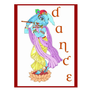 Hare Krishna Dance Post Card