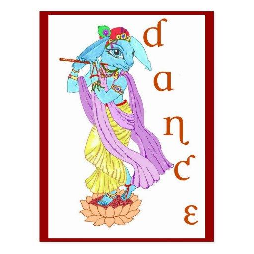 Hare Krishna Dance Post Card