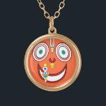 "Hare Krishna Gold Finish Necklace<br><div class=""desc"">hare kṛiṣhṇa hare kṛiṣhṇa kṛiṣhṇa kṛiṣhṇa hare hare hare rāma hare rāma rāma rāma hare hare</div>"